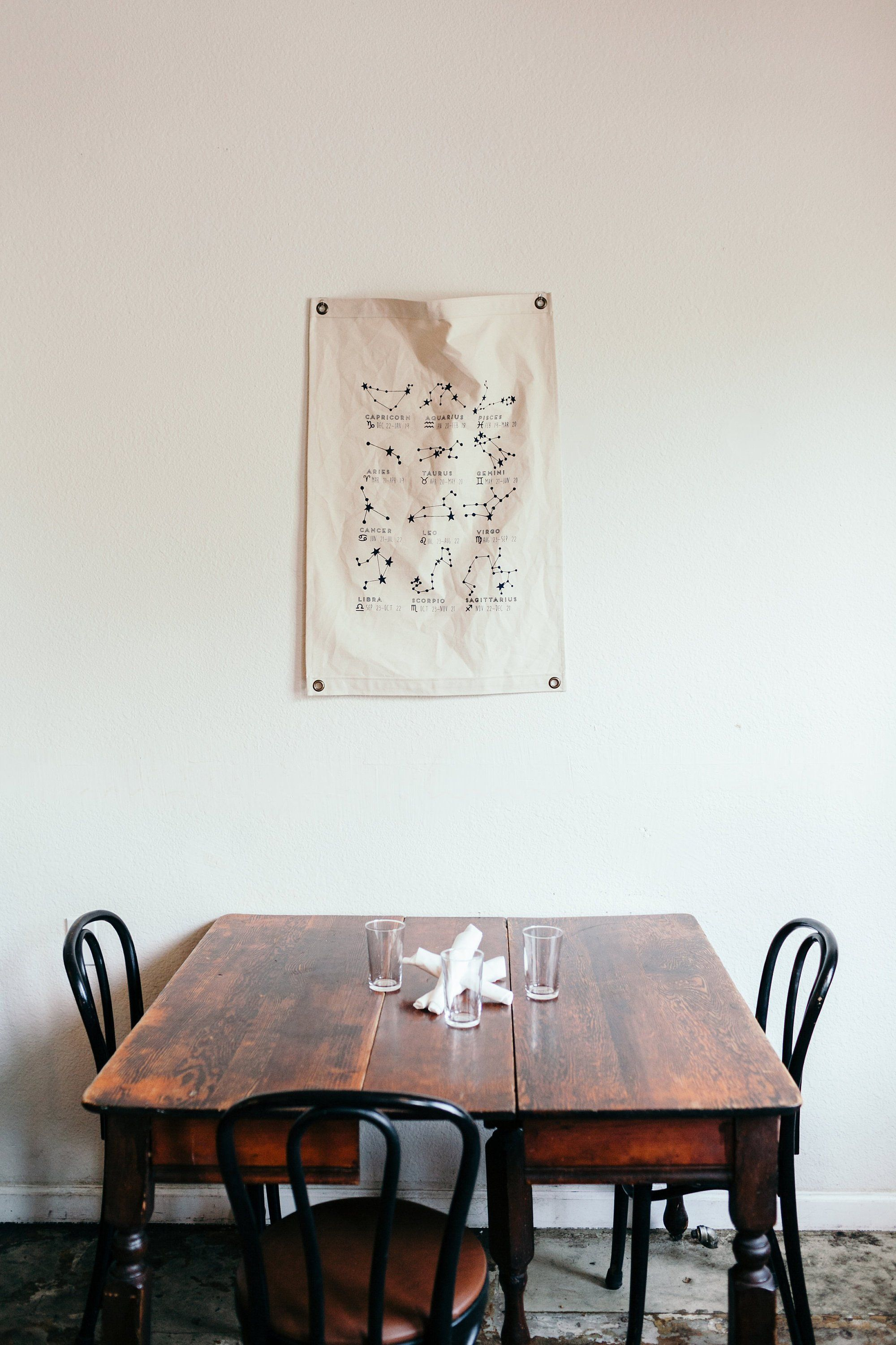 Canvas Banner Constellations Wall Hanging Canvas Flag