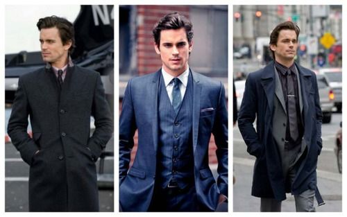 277cdaef35e0e Neil Caffrey from White Collar can definitely pull off a suit. Love the  Burberry jacket (left).