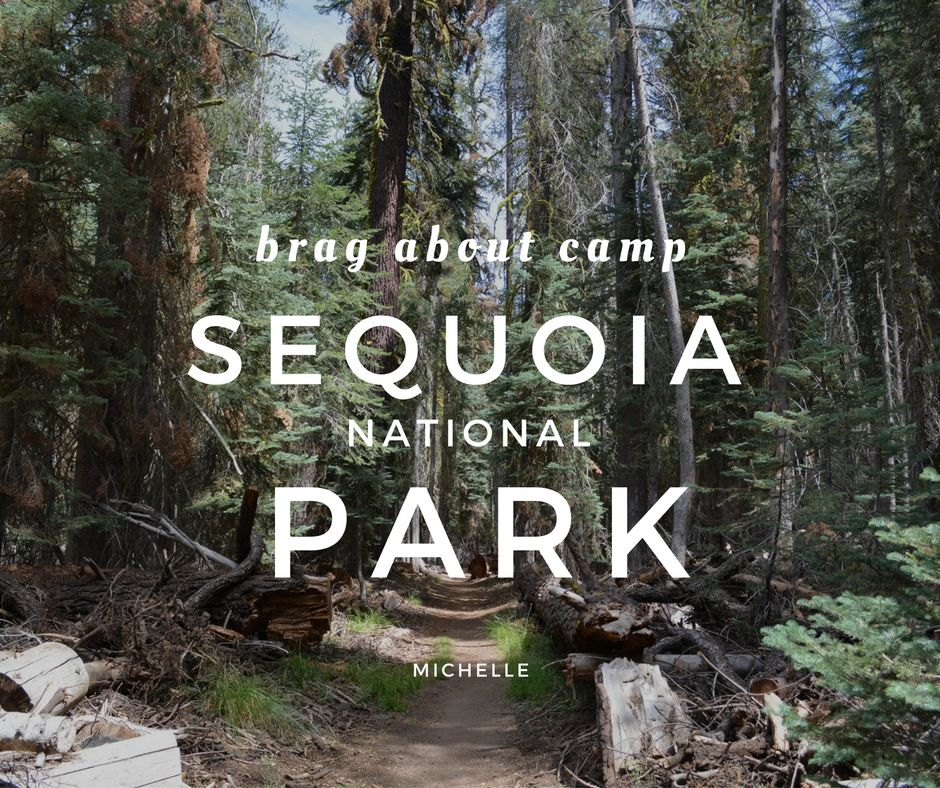 Camping in sequoia national park brag about food
