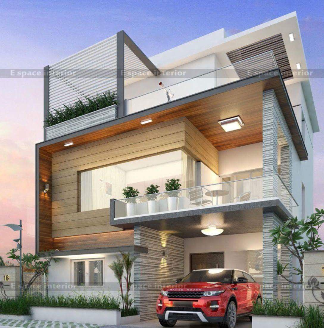 Modern House Front Elevation Designs: Pin By Dwarkadhish&Co. On Elevation-1 In 2019