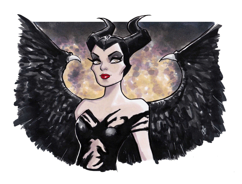 Maleficent Mistress Of Evil Copic Marker Sketch My Artwork