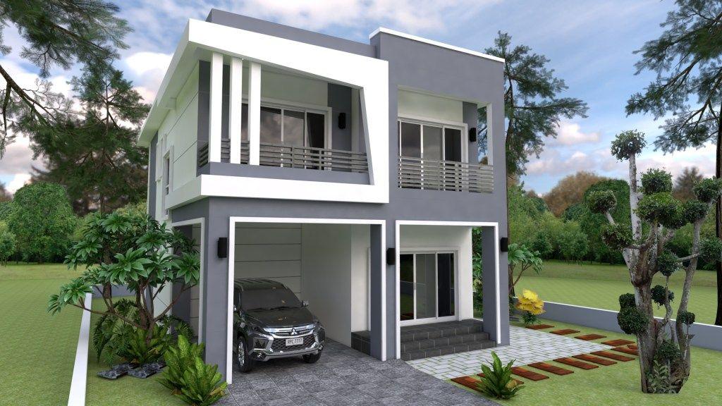 Plan 3d Interior Design Home Plan 8x13m Full Plan 3beds Samphoas Plan House Design Small House Design Plans 3d Interior Design