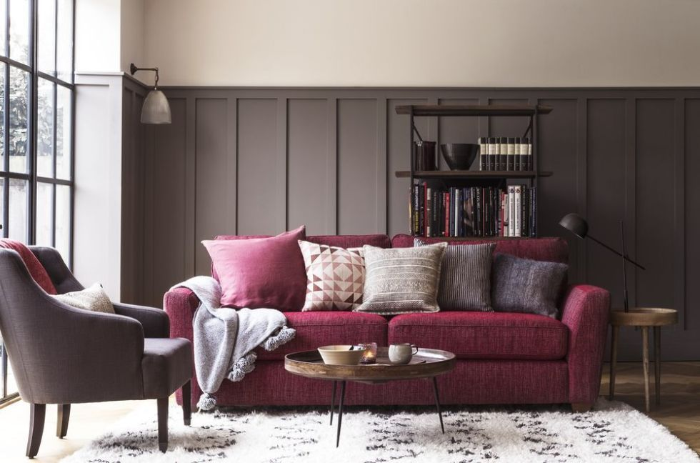 House Beautiful Collection At Dfs The Gorgeous Three Seater Sophia Is Now Available In A Stunning Mulberry Shade Perfect For This Season