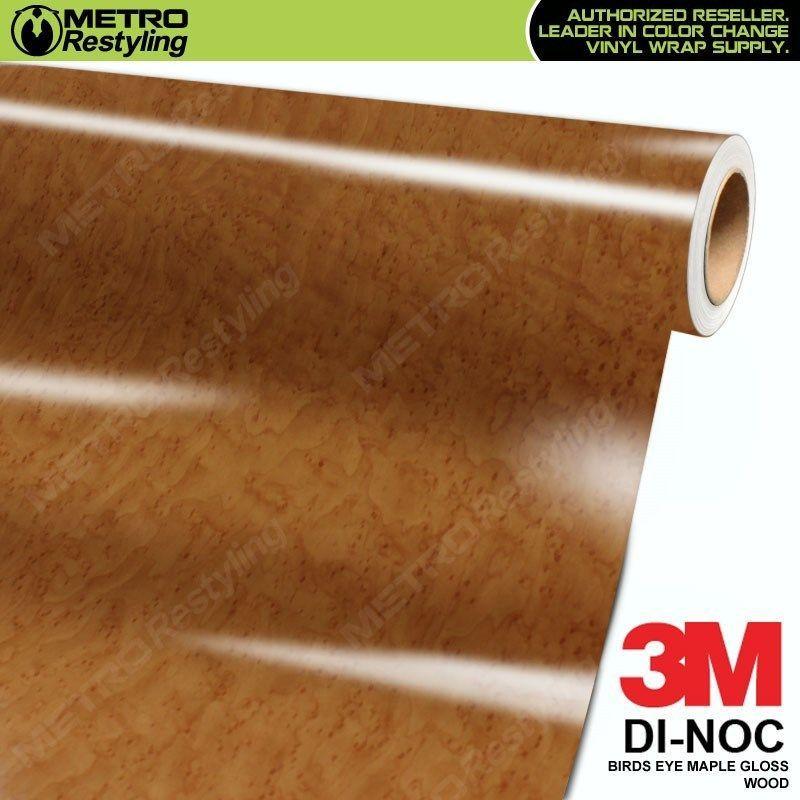 3m Di Noc Birds Eye Maple Gloss Wood Grain Vinyl Wrap Sheet Film Sticker Roll Wood Vinyl Wood Grain Vinyl