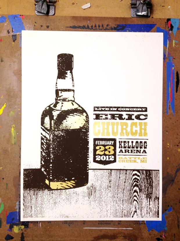 John Knoerl es otro de los diseñadores destacados en nuestros posts sobre pósters de música. Indie. Eric Church