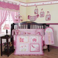 Boutique Girl Dragonfly 13 Piece Crib Bedding Set