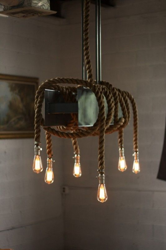 Metal Rope Beam Rustic Industrial Chandelier Id Lights Rustic Ceiling Lights Ceiling Light Design Metal Beam