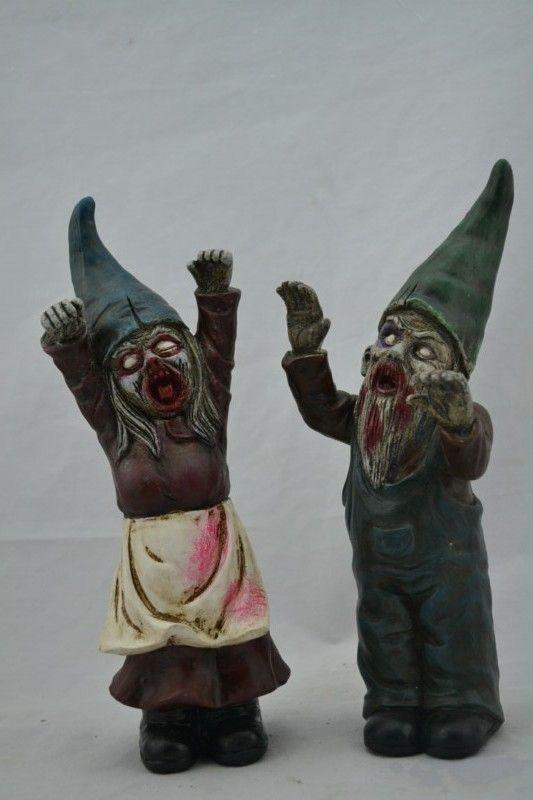 Halloween Zombie Gnomes Statue Halloween Et Decorations