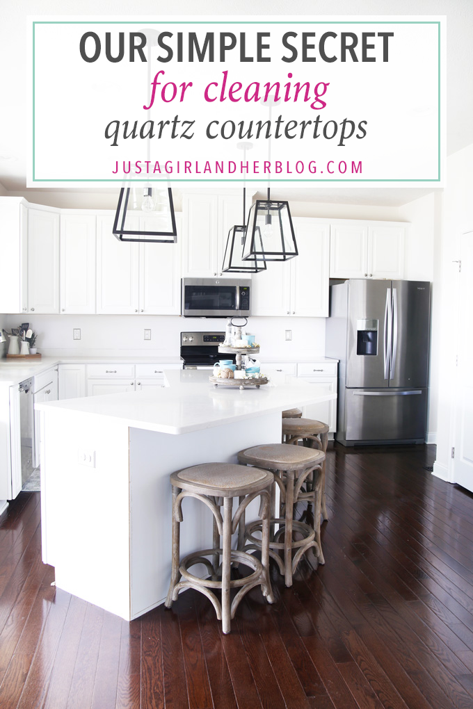 Home- Cleaning Quartz Countertops, easy cleaning tips, clean kitchen, Caesarstone London Grey quartz, spring cleaning, clean house