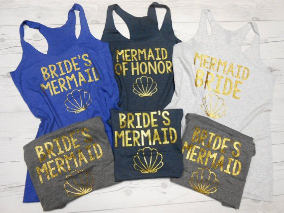 Mermaid Bride Tank Top Bride's Mermaid Mermaid of by BrideBikini