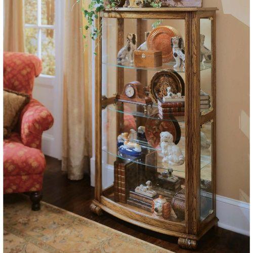 pulaski cache curio cabinet - curio cabinets at hayneedle