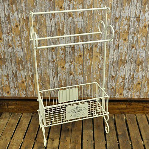 vintage style clothes rail uk, shabby chic french vintage style bathroom cream metal towel clothes, Design ideen