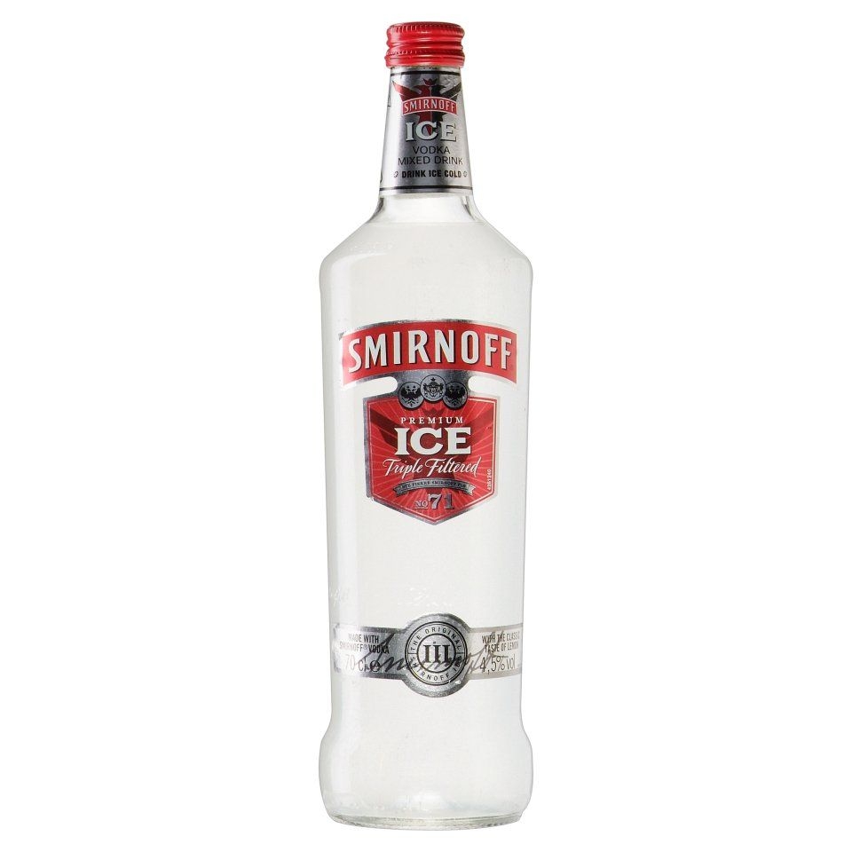 Vodka mixed drinks smirnoff ice vodka mixed drink 70cl for Vodka and iced tea drinks