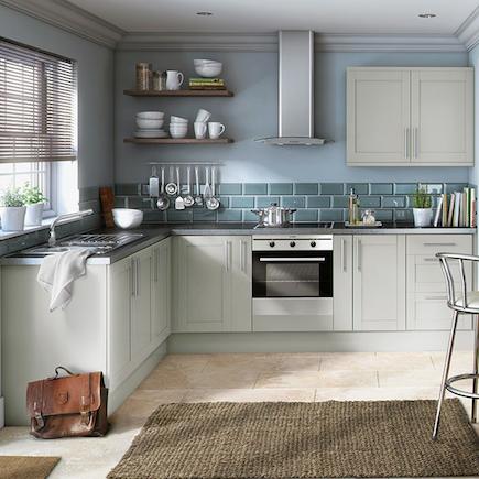 Image result for modern light grey kitchen matte finish