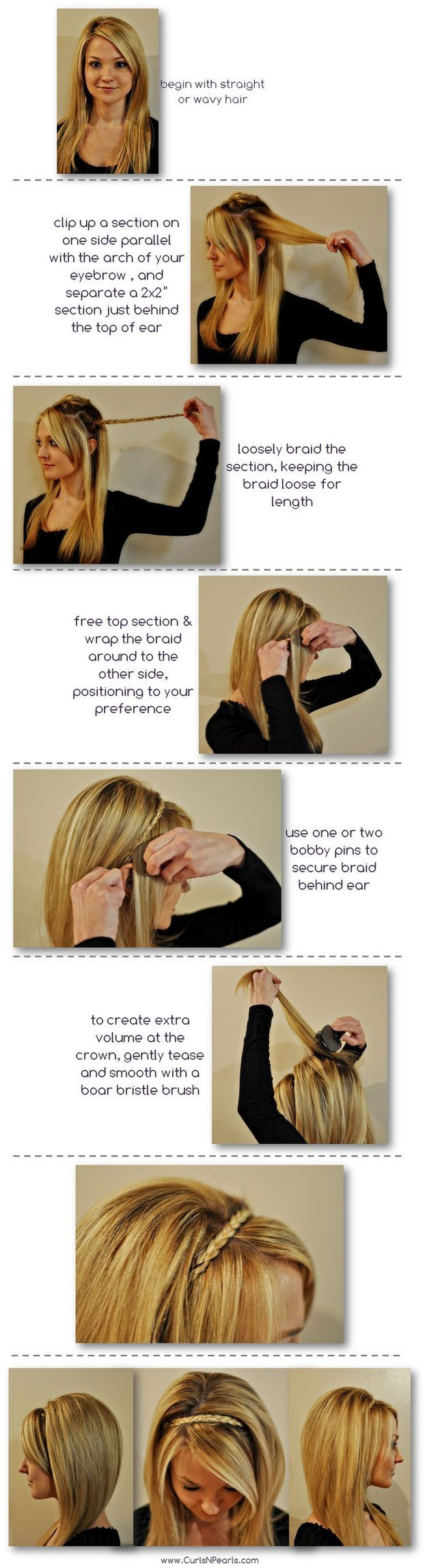 The headband braid hair pinterest headband braids hair tricks