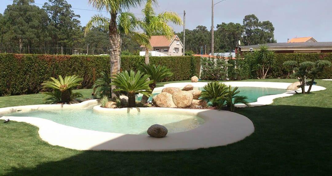 Piscina de lujo de arena bazeni pinterest - Piscina de arena compactada ...