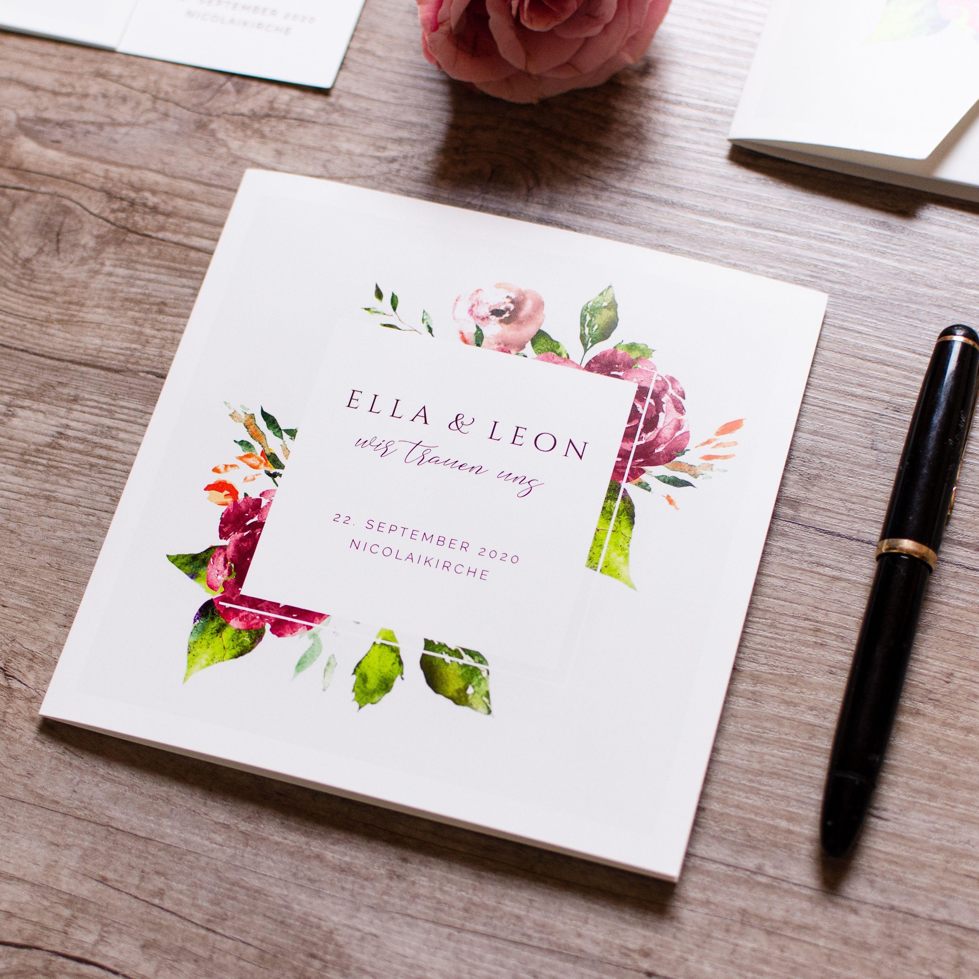 Ella Und Leon In 2020 Einladungen Hochzeit Hochzeitseinladung Karte Hochzeit