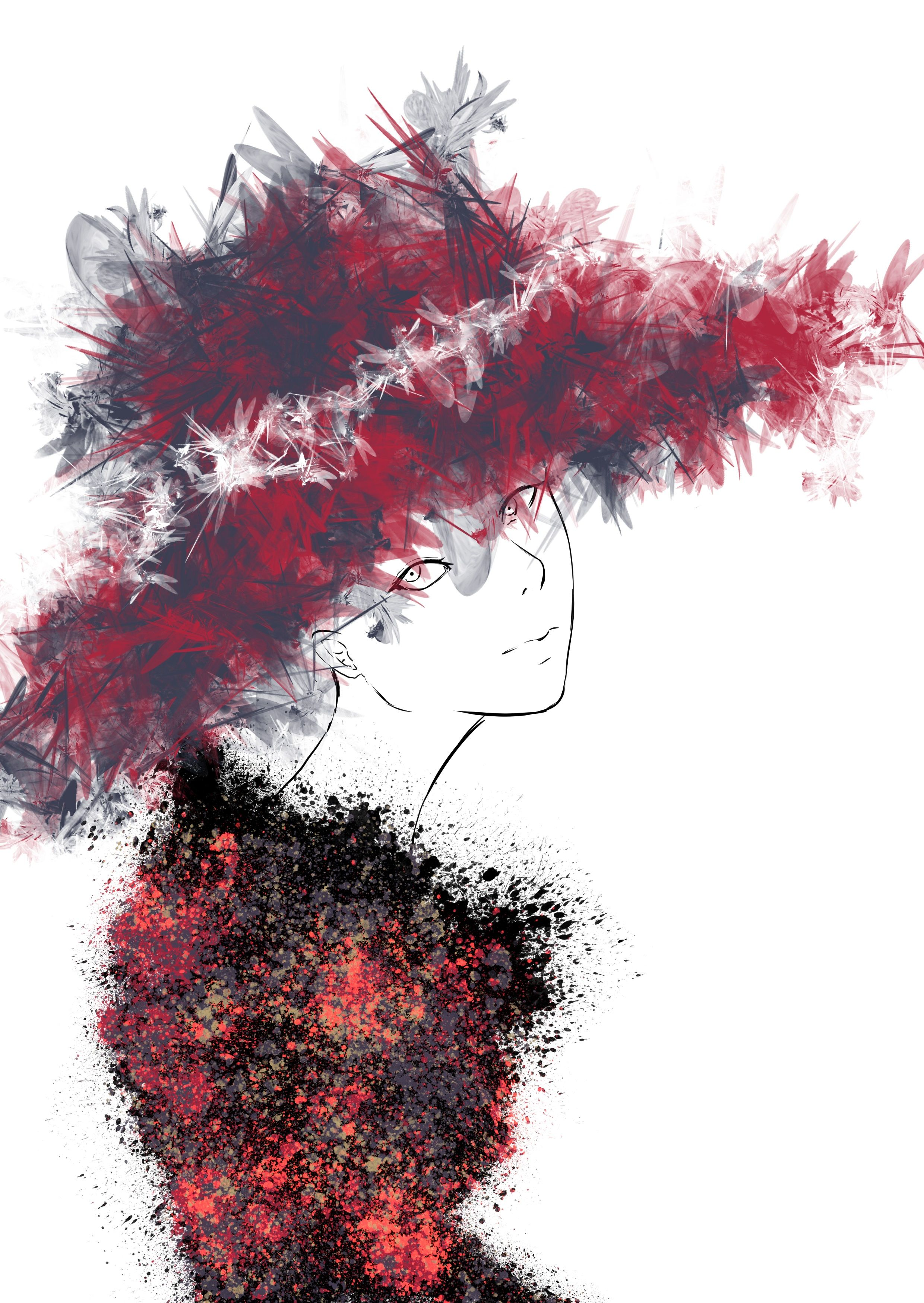 Fashion Illustration made in school with Clip Studio Paint :3