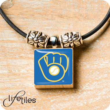 Milwaukee Brewers (glove) LifeTiles Necklace