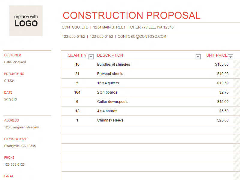 Image Result For Construction Business Forms Templates  Mackooper