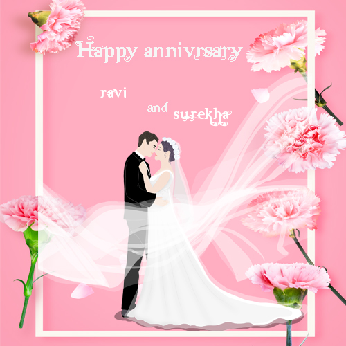 Successfully Write Your Name In Image Anniversary Photo Cards Wedding Anniversary Wishes Wedding Anniversary Photos