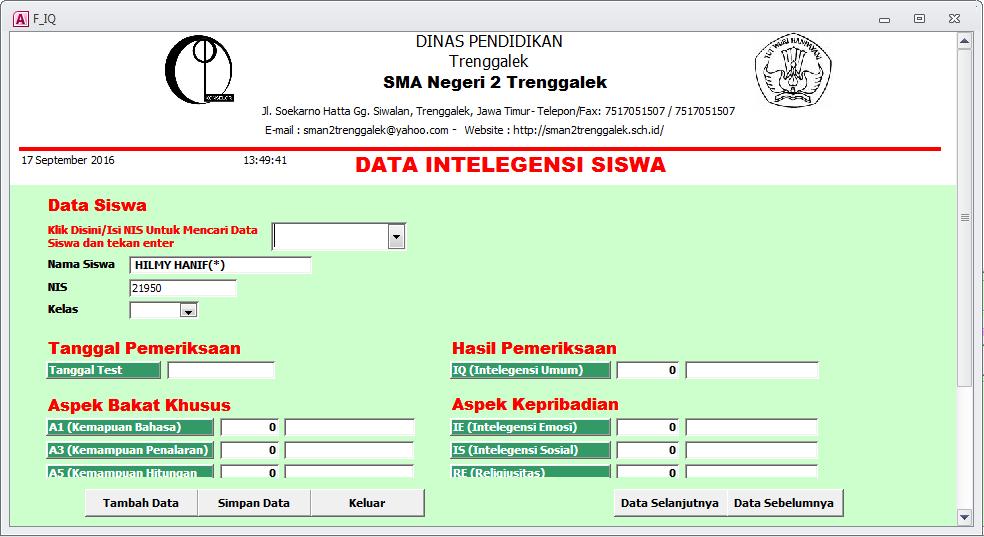 43+ Mencari data siswa dengan nama info