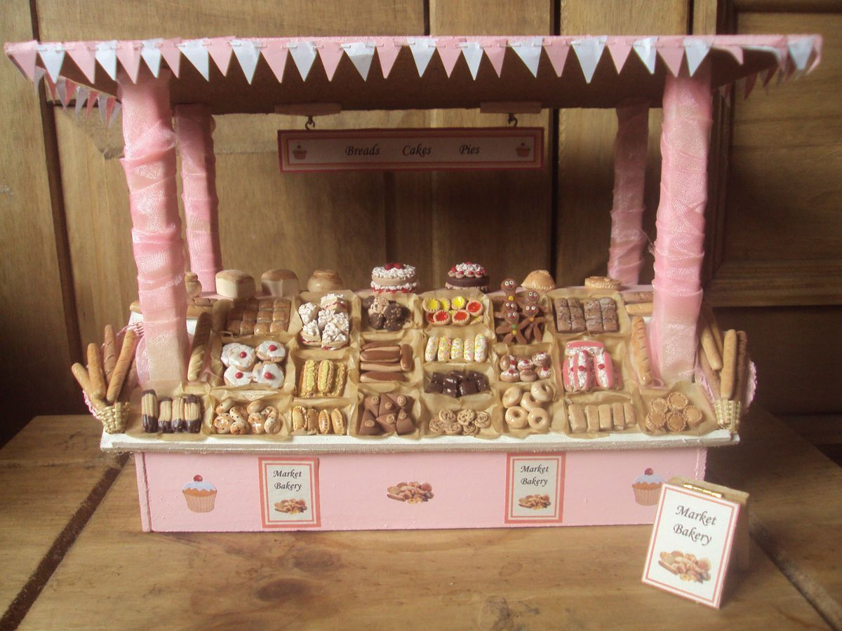 dolls house bakery market stall Google Search