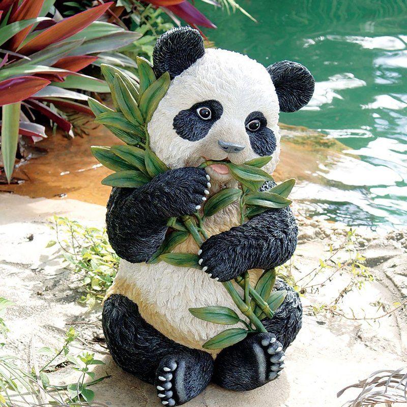 Tian Shan Asian Panda Statue