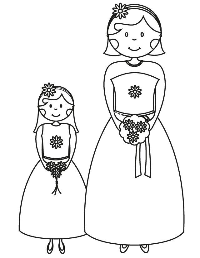 17 Wedding Coloring Pages For Kids Who Love To Dream About Their Big Day Unicorn Coloring Pages Wedding Coloring Pages Coloring Pages For Girls