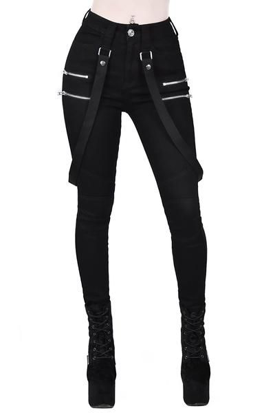 Warfare Jeans - XS / Black / 71% Cotton 27% Polyester 2% Elastane Made in CN