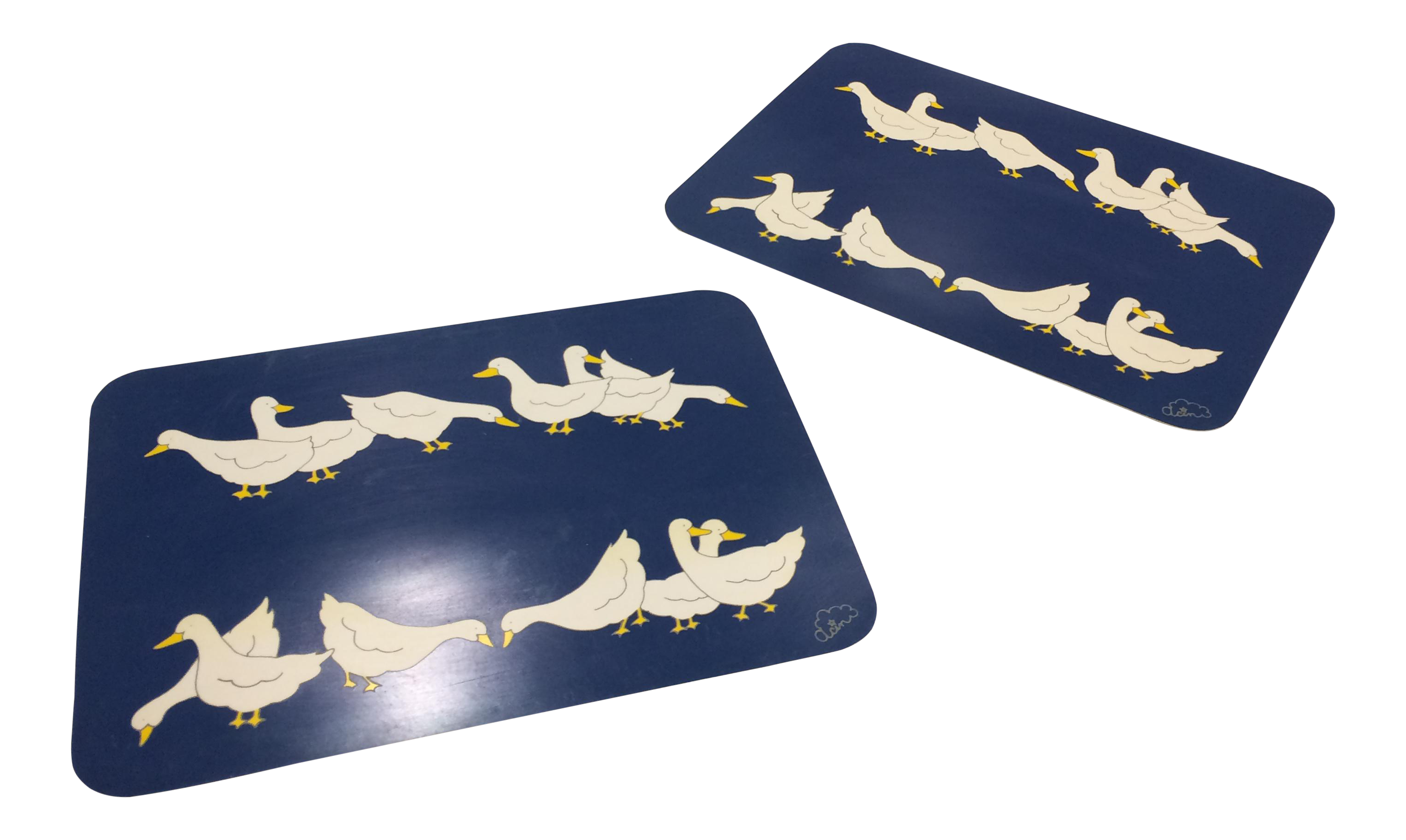 Vintage Blue Plastic Placemats With Ducks Placemats Vintage Dinnerware Gift Guide
