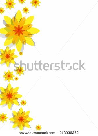 Creative Abstract Decorative Yellow Spring Flowers