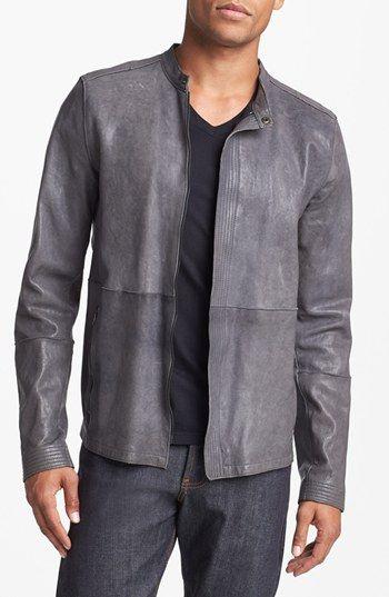 Edun Leather Racing Jacket