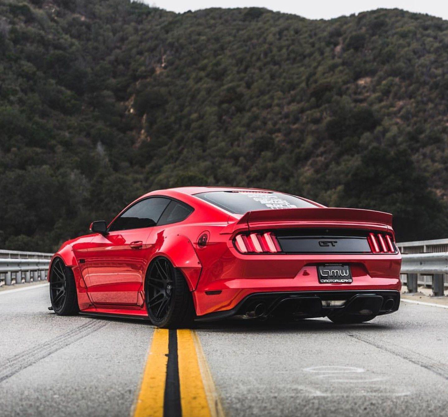 Ford Car Wallpaper: Bad-ass Liberty Walk Ford Mustang