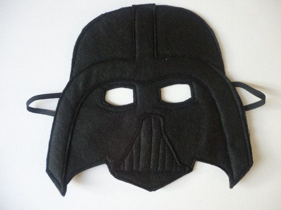 felt darth vader style mask for children dressing. Black Bedroom Furniture Sets. Home Design Ideas