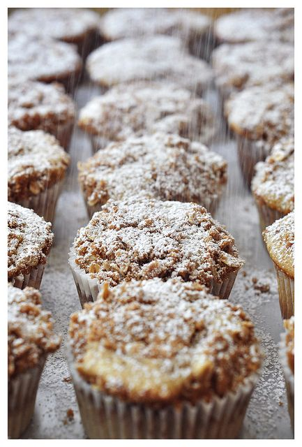You know it's going to be a delicious treat when powdered sugar starts raining down.