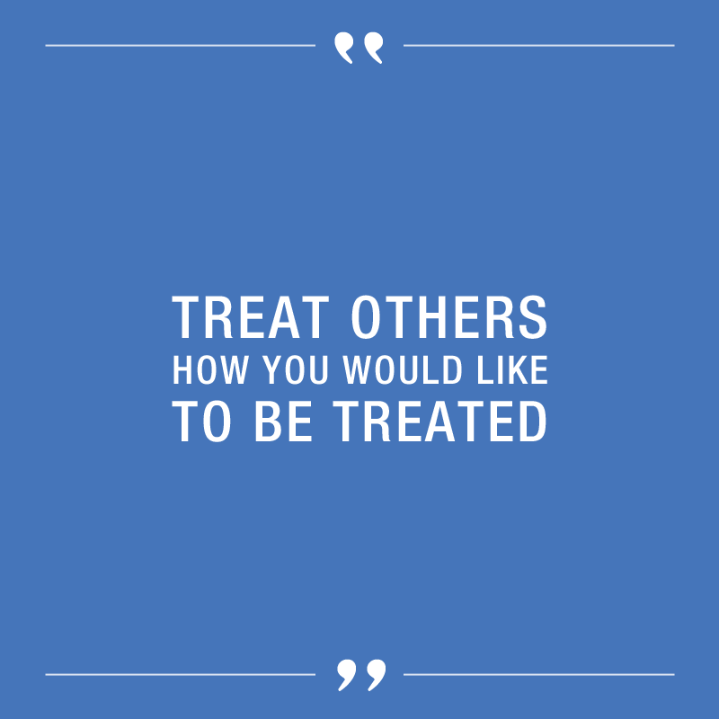 """Respect. Treat others how you would like to be treated."""" – Amy J ..."""