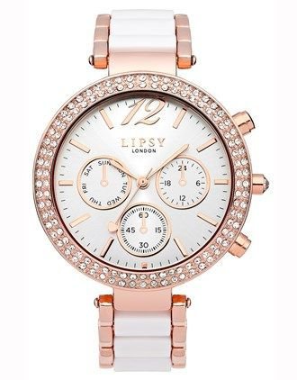 Lipsy Round Faced Embellished Watch