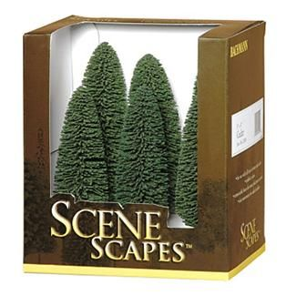 Bachmann Scene Scapes 5 to 6 Inch Cedar Trees, Pkg. of 6