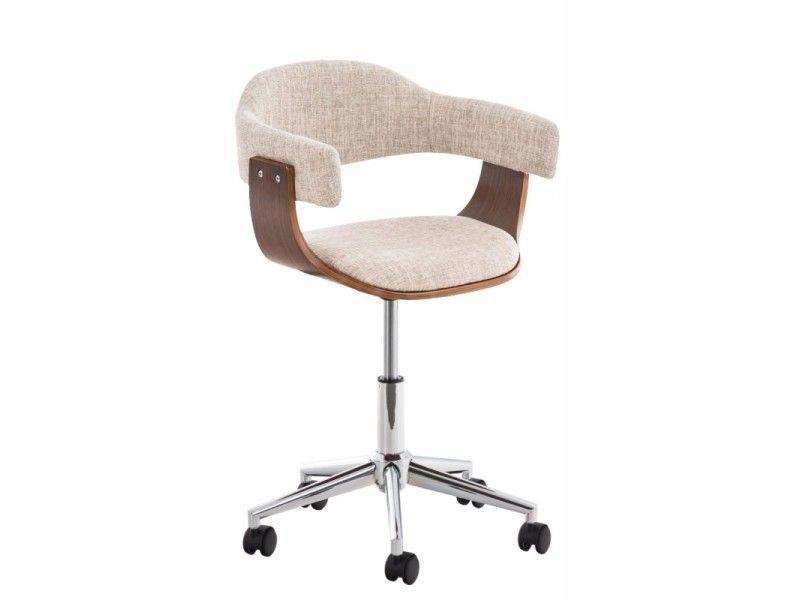 tabouret crème bois de chrome Chaise bureau en tissu et LGqUzMVSp