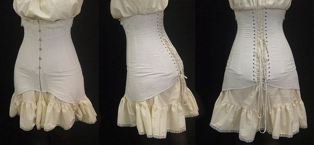 "Reconsctructing a 1910s corset - website's ""research"" section has some great pictures from late 1800s fashion magazines - by festive attyre, via Flickr"