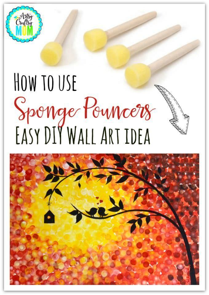 How to use sponge pouncers easy diy wall art idea kid blogger paintmartha stewart crafts foam pouncers set and canvas this do it yourself wall art shows how to use sponge pouncers easy diy wall art idea solutioingenieria Gallery