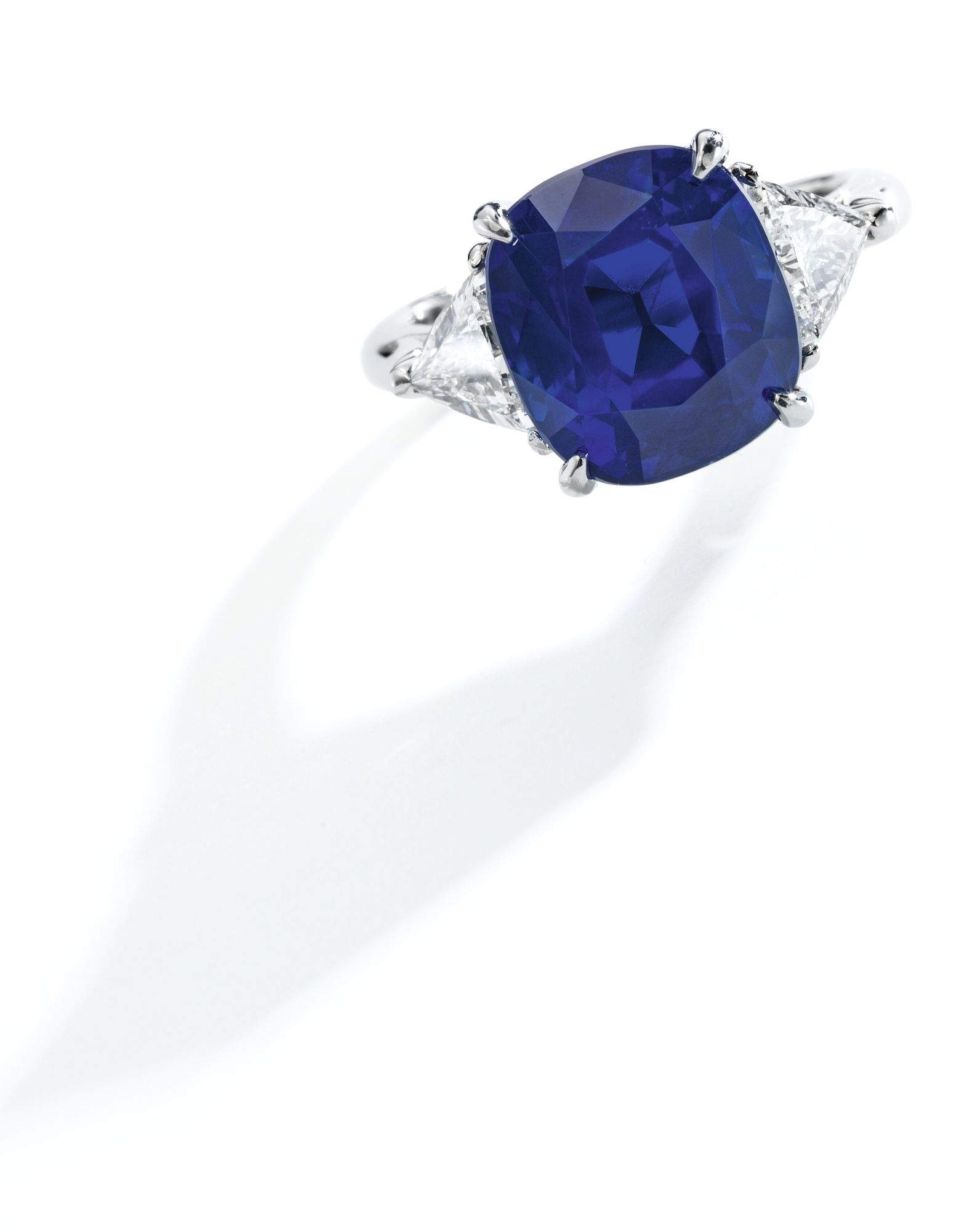 Important Platinum, 745 Carats Classic Kashmir Sapphire And Diamond Ring,  Tiffany