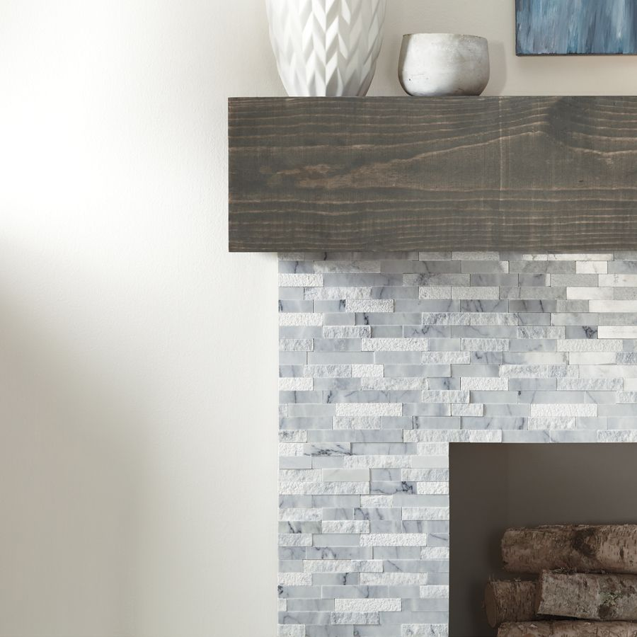 lowes - American Olean Genuine Stone Refined White Linear