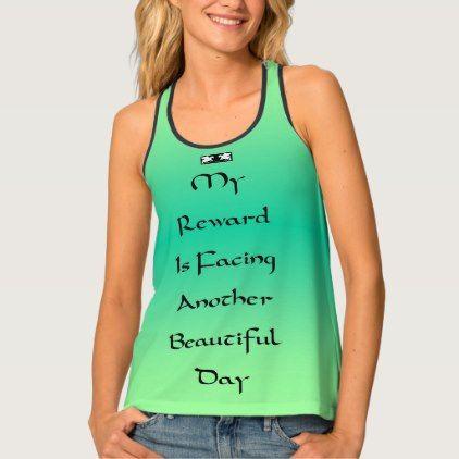 #women - #Reward Quote by Kat Worth Tank Top