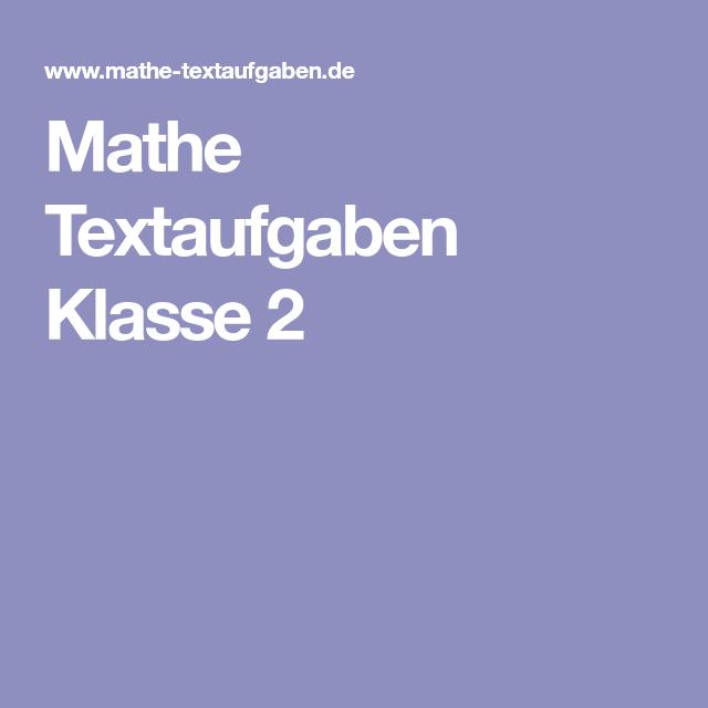 Mathe Textaufgaben Klasse 2   Rechnen   Pinterest   Klasse, Mathe ...
