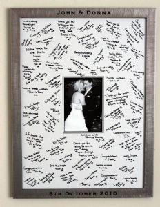 Large Engraved Guest Signing Frame Diy Wedding Guest Book Wedding Guest Signing Wedding Book