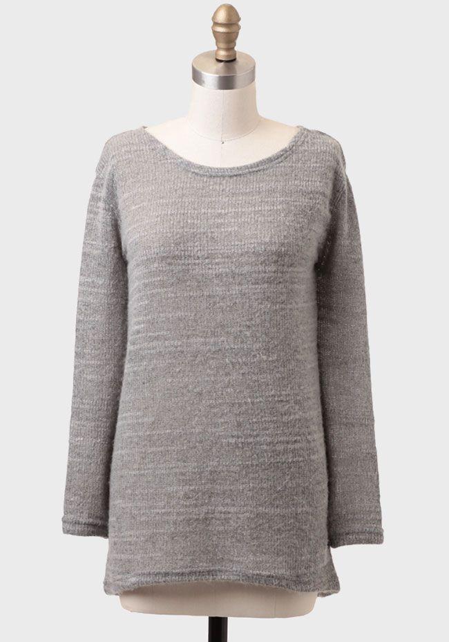 Nostalgia Pullover Sweater In Gray at #Ruche @Ruche