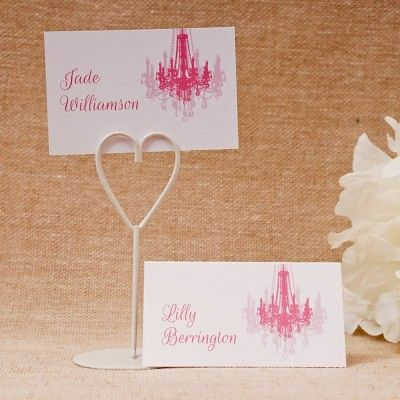 Crystal dreams place cards £0 69 personalised free with your guests individual names printed and