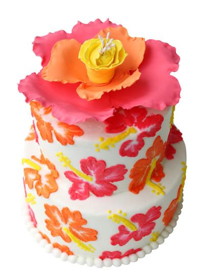 Hibiscus cake Party Ideas Pinterest Hibiscus cake Hibiscus